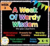 Week of Words - Week 3