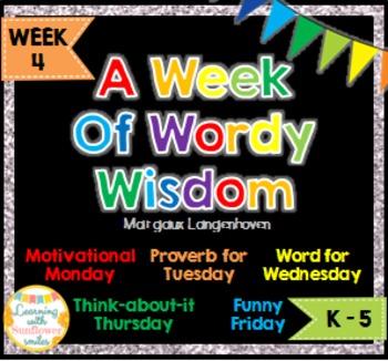 Week of Words - Week 4
