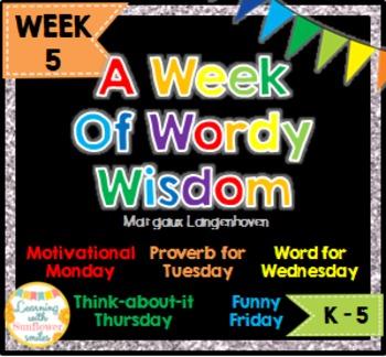 Week of Words - Week 5