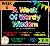 Week of Words - Week 6