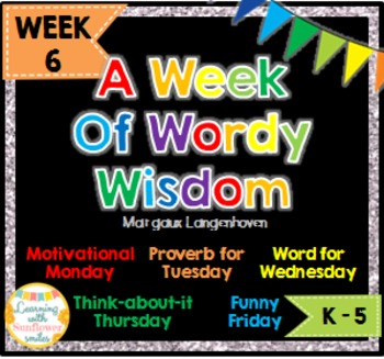 Week of Words - Week 6