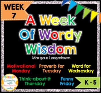 Week of Words - Week 7