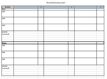 Week to week planner/scoresheet for SLPs