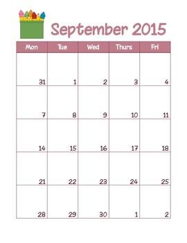 Weekday Calendar