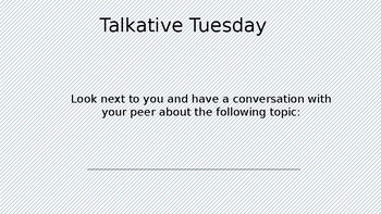 Weekday Conversation Topics