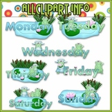 $1.00 BARGAIN BIN - Weekday Frogs Clip Art