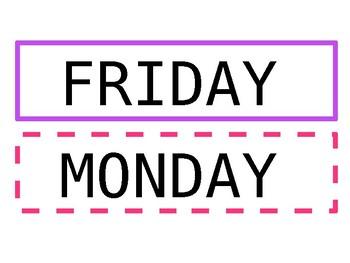Weekday Labels