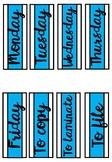 Weekday Labels - Blue