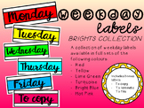 Weekday Labels - Brights Collection