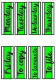 Weekday Labels - Lime Green