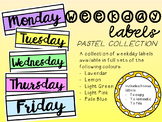 Weekday Labels - Pastels Collection