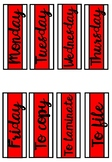 Weekday Labels - Red