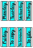 Weekday Labels - Turquoise