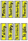 Weekday Labels - Yellow