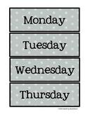 Weekday Polka Dot Labels