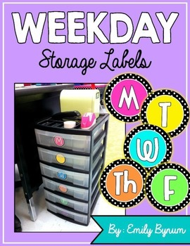Weekday Storage Labels!
