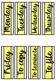 Weekday labels - Lemon