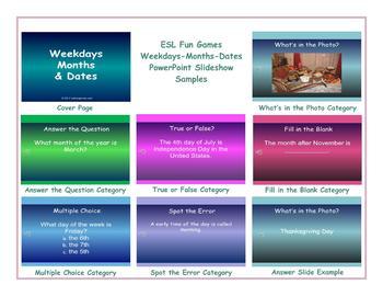 Weekdays-Months-Dates PowerPoint Slideshow