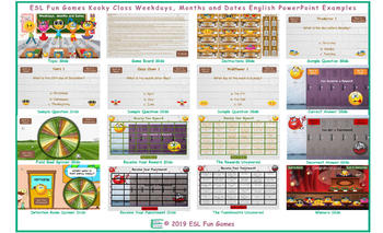 Weekdays, Months and Dates Kooky Class English PowerPoint Game