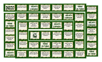 Weekdays, Months and Dates Spanish Board Game