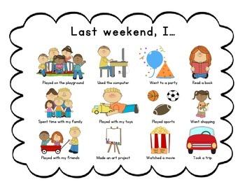 Weekend Activities Chart