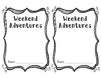 Weekend Adventure Notebook Labels