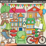 """House and Home Clip Art: """"Weekend at Home"""""""