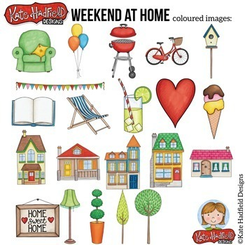 "House and Home Clip Art: ""Weekend at Home"""