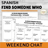 Find Someone Who Spanish Weekend Chat