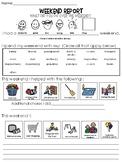 Weekend Communication Sheet PDF
