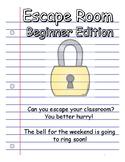 Weekend Escape Room Activity - Beginner Edition