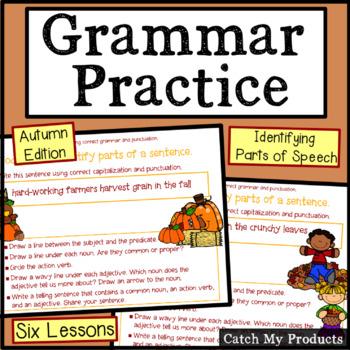 Grammar Practice: Autumn Morning Work in Power Point