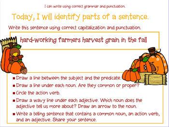 Grammar Process : Autumn Grammar for Promethean Board use