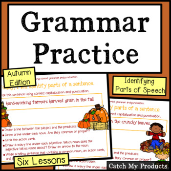 Grammar Process : Autumn Grammar for Promethean Board use