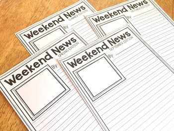 Weekend News Writing Pages