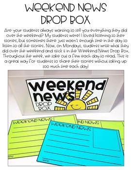 Weekend News Drop Box