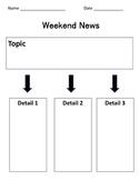 Weekend News Graphic Organizer