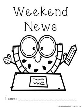 Weekend News Journal Pages Pineapple and Watermelon Themed