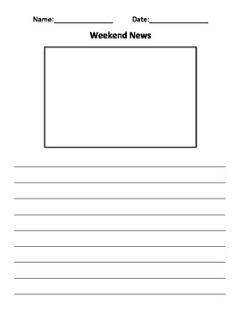 Weekend news journal template for classroom by georgia for Teacher diary template