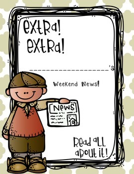 Weekend News! - Narrative Writing...No Prep! You're Set for the Year!