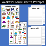 Weekend News Picture Prompts and Writing Paper