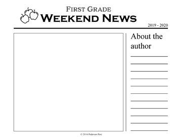 Weekend News Template