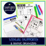 Weekend News WH Question Visual Supports & Graphic Organizers