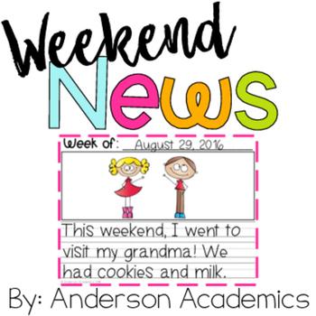 Weekend News - Weekly Writing