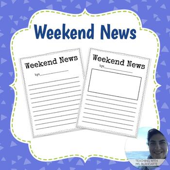 Weekend News Writing