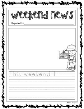 Weekend News Writing Fun!