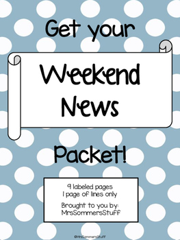 Weekend News Writing Packet