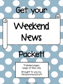 Weekend News Writing Packet
