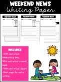Weekend News Writing Paper