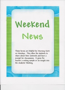 Weekend News Writing Projects